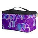 Cute Violet Elephants Pattern Cosmetic Storage Case View3