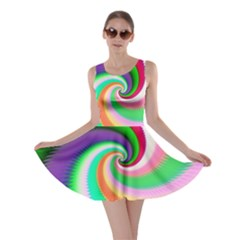 Colorful Spiral Dragon Scales   Skater Dress by designworld65