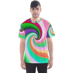 Colorful Spiral Dragon Scales   Men s Sport Mesh Tee by designworld65