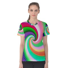 Colorful Spiral Dragon Scales   Women s Cotton Tee by designworld65