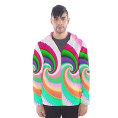 Colorful Spiral Dragon Scales   Hooded Wind Breaker (men) by designworld65