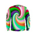 Colorful Spiral Dragon Scales   Kids  Sweatshirt View1