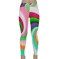 Colorful Spiral Dragon Scales   Yoga Leggings  by designworld65