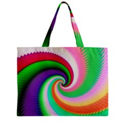 Colorful Spiral Dragon Scales   Zipper Mini Tote Bag by designworld65