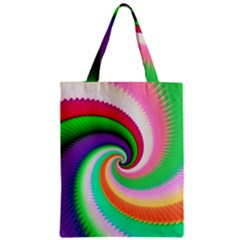 Colorful Spiral Dragon Scales   Zipper Classic Tote Bag by designworld65