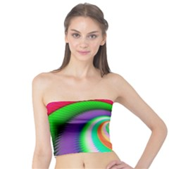 Colorful Spiral Dragon Scales   Tube Top by designworld65