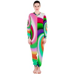 Colorful Spiral Dragon Scales   Onepiece Jumpsuit (ladies)  by designworld65