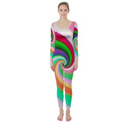 Colorful Spiral Dragon Scales   Long Sleeve Catsuit by designworld65