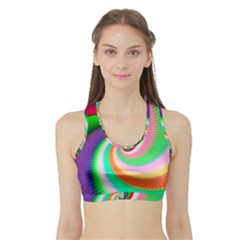 Colorful Spiral Dragon Scales   Sports Bra With Border by designworld65