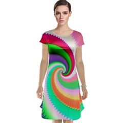 Colorful Spiral Dragon Scales   Cap Sleeve Nightdress