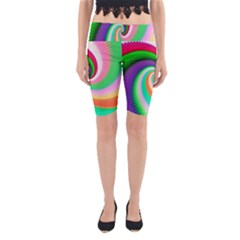 Colorful Spiral Dragon Scales   Yoga Cropped Leggings