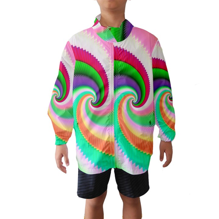 Colorful Spiral Dragon Scales   Wind Breaker (Kids)