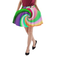 Colorful Spiral Dragon Scales   A Line Pocket Skirt by designworld65
