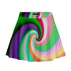 Colorful Spiral Dragon Scales   Mini Flare Skirt by designworld65