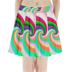 Colorful Spiral Dragon Scales   Pleated Mini Skirt by designworld65