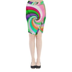 Colorful Spiral Dragon Scales   Midi Wrap Pencil Skirt by designworld65