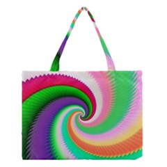 Colorful Spiral Dragon Scales   Medium Tote Bag by designworld65