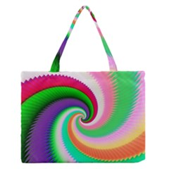 Colorful Spiral Dragon Scales   Medium Zipper Tote Bag
