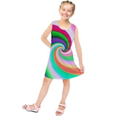 Colorful Spiral Dragon Scales   Kids  Tunic Dress by designworld65