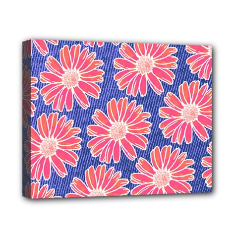 Pink Daisy Pattern Canvas 10  X 8  by DanaeStudio