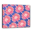 Pink Daisy Pattern Canvas 20  x 16  View1