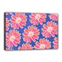 Pink Daisy Pattern Canvas 18  x 12  View1