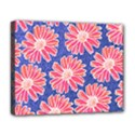 Pink Daisy Pattern Deluxe Canvas 20  x 16   View1