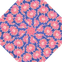 Pink Daisy Pattern Hook Handle Umbrellas (large) by DanaeStudio