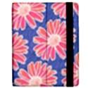 Pink Daisy Pattern Apple iPad 3/4 Flip Case View2