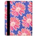 Pink Daisy Pattern Apple iPad Mini Flip Case View3