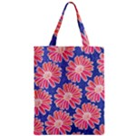 Pink Daisy Pattern Zipper Classic Tote Bag