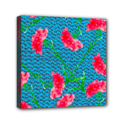 Carnations Mini Canvas 6  X 6  by DanaeStudio