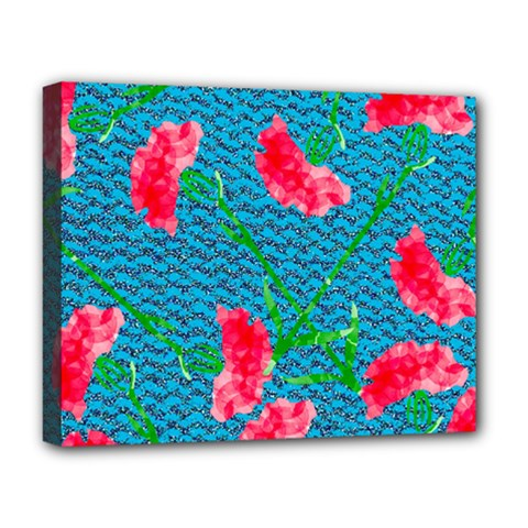 Carnations Deluxe Canvas 20  X 16   by DanaeStudio
