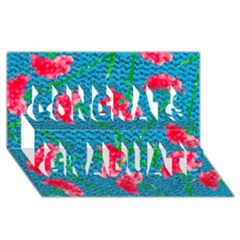 Carnations Congrats Graduate 3d Greeting Card (8x4) by DanaeStudio