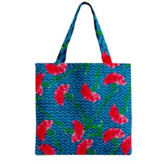 Carnations Grocery Tote Bag by DanaeStudio