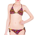 Abstract Shimmering Multicolor Swirly Bikini Set
