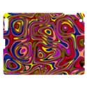 Abstract Shimmering Multicolor Swirly Apple iPad 3/4 Hardshell Case View1