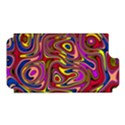 Abstract Shimmering Multicolor Swirly Apple iPhone 5 Hardshell Case (PC+Silicone) View1