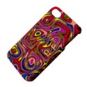 Abstract Shimmering Multicolor Swirly Apple iPhone 4/4S Hardshell Case with Stand View4