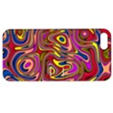 Abstract Shimmering Multicolor Swirly Apple iPhone 5 Hardshell Case with Stand View1