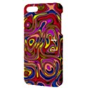 Abstract Shimmering Multicolor Swirly Apple iPhone 5 Hardshell Case with Stand View3