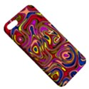 Abstract Shimmering Multicolor Swirly Apple iPhone 5 Hardshell Case with Stand View5