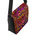 Abstract Shimmering Multicolor Swirly Flap Messenger Bag (S) View2