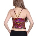 Abstract Shimmering Multicolor Swirly Spaghetti Strap Bra Top View2