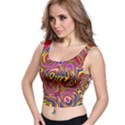 Abstract Shimmering Multicolor Swirly Crop Top View1