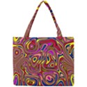 Abstract Shimmering Multicolor Swirly Mini Tote Bag View1