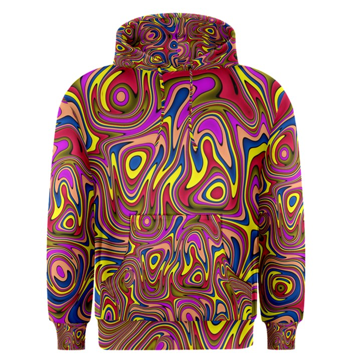 Abstract Shimmering Multicolor Swirly Men s Pullover Hoodie