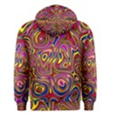 Abstract Shimmering Multicolor Swirly Men s Pullover Hoodie View2