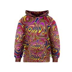 Abstract Shimmering Multicolor Swirly Kids  Pullover Hoodie