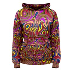 Abstract Shimmering Multicolor Swirly Women s Pullover Hoodie
